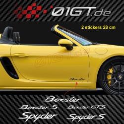 2 sticker decal BOXSTER logo for Porsche Boxster S GTS Speedstermirror