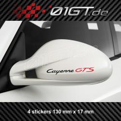 4 sticker decal CAYENNE GTS logo for Porsche mirror