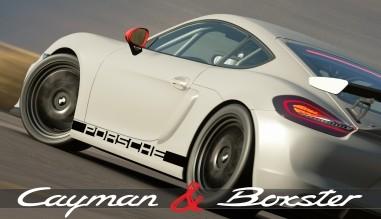 Porsche Boxster and Cayman sticker decal